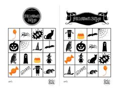 halloween printable bingo cards - Google Search