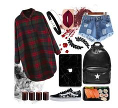 """""""Untitled #113"""" by shydolan on Polyvore featuring Vans, Givenchy, Smashbox, Miss Selfridge, Cristabelle and Laura Mercier"""