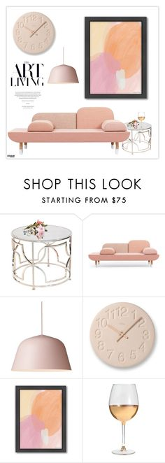 """""""Pink Decor"""" by marion-fashionista-diva-miller ❤ liked on Polyvore featuring interior, interiors, interior design, home, home decor, interior decorating, Lemnos, Americanflat, Marc Blackwell and Pink"""