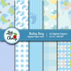 Baby Boy 3  This listing is for 10 printable High Quality Digital papers.    Each paper measures 12 x 12 inch, 300 DPI, JPEG format.    Great for scrapbooking, making cards, invitations, tags and photographers.    Keywords: Blue, Polka Dots, Plaid, Pastel, Baby, Boy, Brown, Strips, Lime, Scrapbooking Paper, Digital Papers, Printable Papers, Printable Background, Printable Patterns.