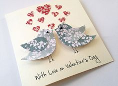 Valentines Card  Love Birds Valentines Day Card  by LottieandLois #promotingwomen