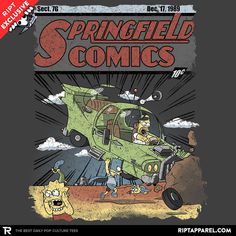 Springfield Comics T-Shirt $11 Simpsons tee at RIPT today only!