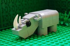 Lego Custom Zoo Animal Rhino hippopotamus Safari Wild Mammal Toy Mini MOC by AzLegoBrickCustoms on Etsy