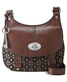 Fossil Handbag, Maddox Fabric Flap Bag - Fossil - Handbags & Accessories - Macy's