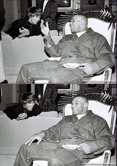 Whitney Houston and Mike Tyson . Beautiful Soul, Black Is Beautiful, Beverly Hills, Jasmine Guy, Whitney Houston Pictures, Celebrity Photos, Celebrity Style, Black Celebrities, Mike Tyson