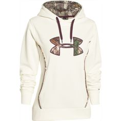 Under Armour Women's Storm Caliber Hoodie - Ivory - 1247106-130 Profile