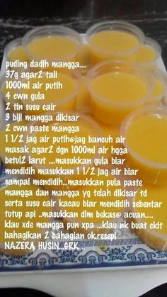 Puding dadih mangga Mary's Kitchen, Agar, Sweet Tooth, Deserts, Cooking, Recipes, Desserts, Kochen, Food Recipes