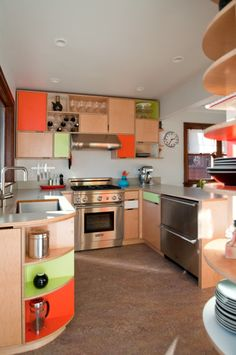 Kitchen cabinets. Plywood. Local.                                                                                                                                                                                 More