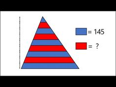 Can you solve the triangle stripes problem? Maths Area, Red Stripes, Mathematics, Triangle, Math