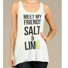 Salt & Lime * Just IN No alcohol required :) top. Perfect thin, sheer layer tank for layering, working out, or leggings. Tops Tank Tops