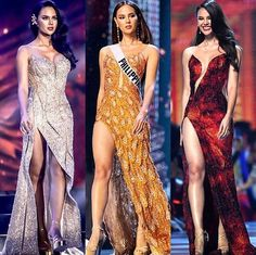 Stunning Filipina beauty and the incredibly gorgeous, Catriona Gray, had been wearing from the very beginning! All of these pieces were designed with the utmost exquisite and paired with the most gorgeous accessories! I really loved all of these gowns! Beauty Pageant Dresses, Pageant Gowns, Pageant Dresses For Women, Miss Universe Dresses, Modern Filipiniana Gown, Miss Universe National Costume, Grey Fashion, Fashion Outfits, Miss Pageant