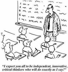 I chose this picture as an example of teacher centered learning ...