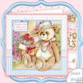 Another Year Older Grin and Bear It 8x8 Decoupage Kit