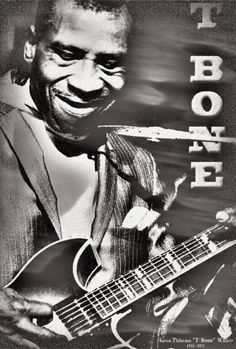TBONE WALKER Blues Guitarist Art Print Musician by StoneyPrints