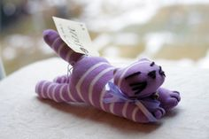 Rizzo the Sock Cat - Upcycled Soft Toy. £8.00, via Etsy.