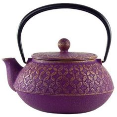 Seven Jewels Purple Tetsubin Teapot