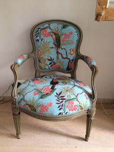 Een oude stoel gaaf bekleden