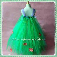 Frozen Elsa Fever Green Tutu Dress, Handmade Fancy Dress Costume **LINED TOP**