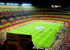 The Camp Nou stadium before el Clasico : FC Barcelona vs Real Madrid