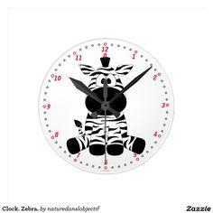 Clock. Zebra.