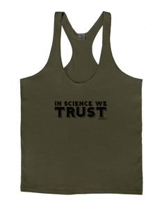 In Science We Trust Text Mens String Tank Top