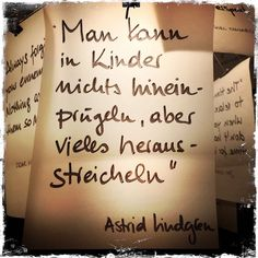 Tolla Erleuchtung – meine Zettelz Lampe von Ingo Maurer How right Astrid Lindgren has. And with their books you can also give children a lot of pleasure. Handwritten Quotes, True Words, Quotations, Lyrics, Life Quotes, About Me Blog, Told You So, Inspirational Quotes, Wisdom