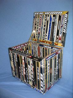 Broken hockey stick toy box