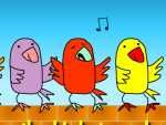 Early Bird Singers:    Click on a Bird to play a Melody  by Andy Rhodes