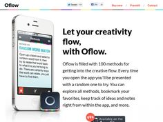 Oflow creative app for your iPhone. Be more creative and get into the flow with Oflow, available now.