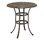 Home Styles Floral Blossom Taupe Bistro Table Shop