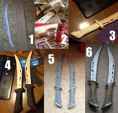 Siffy on tumblr's how-to for Tauriel's knives, made with worbla and wood.