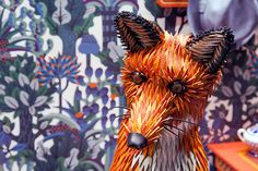 Paper art window display is more than just foxy
