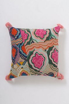 Embroidered Bhangra Cushion | Anthropologie.eu