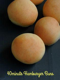 40minute Eggless Hamburger Buns