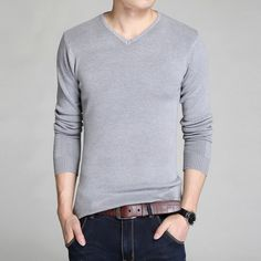 Men's Sweaters 2016 Fashion Brand Clothing Slim Knitting Mens Sweaters And Pullovers Blouse Casual V Neck Pull Homme Sueter Tops