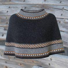 Knit Cowl, Knitted Poncho, Knit Crochet, Poncho Sweater, Knitting Stitches, Hand Knitting, Knitting Patterns, Fair Isle Knitting, Vintage Knitting
