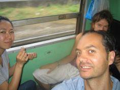 On the train in Thailand with Ben & Miyo  #greatwalker