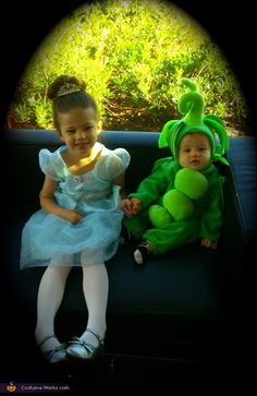 The Princess and The Pea - Love this costume combination for sister and younger sibling!