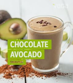 Chocolate Avocado Smoothie: Rich in unsaturated fats which promote healthy skin, avocado is a delicious addition to any meal. Try this chocolate avocado smoothie for a creamy and decadent treat! #VegaSmoothie