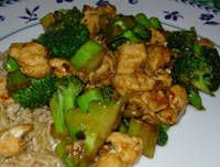 Made this yesterday with some sticky rice.  I had to 3X the recipe for my family but it was yummy.  I added some hoisin sauce to it for a little more flavor.