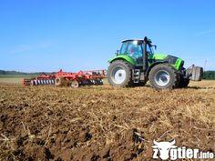Deutz Fahr Agrotron TTV 630 mit schwerer Scheibenegge