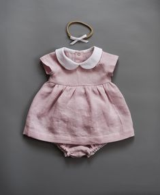 Linen and cotton clothes for kids by TsiomikKids Dresses Kids Girl, Toddler Girl Outfits, Kids Outfits, Baby Girl Fashion, Toddler Fashion, Kids Fashion, Latest Tops Fashion, Baby Easter Outfit, Baby Dress Design
