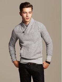Heritage Ribbed Shawl-Collar Pullover Hombres Bien Vestidos 7b32dbd5bef