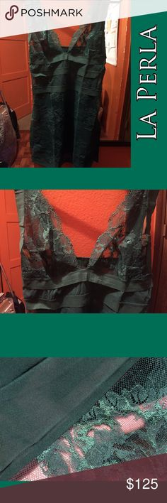 ✨NEW!✨La Perla sz Small Brand New! With tags Feel free to ask questions. Silk/Lace Forest Green Top. ✅Offers ❌PayPal ❌Trades La Perla Intimates & Sleepwear Chemises & Slips