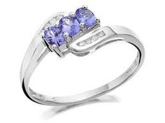 Image result for Single plain tanzanite engagement rings