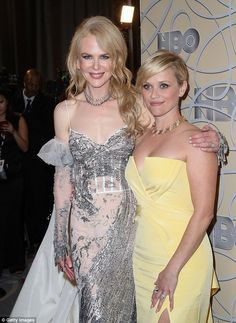 Mellow yellow: The Hollywood sweethearts hit the red carpet in a flurry of giggles and gir...