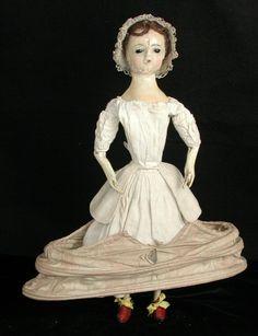wooden Queen Anne doll, Europe, 1725-1775