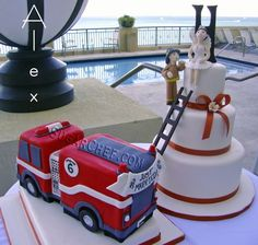 Fire Rescue Wedding Cake | Shared by LION