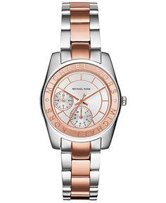 Michael Kors Women's Ryland Two-Tone Stainless Steel Bracelet Watch 33mm MK6196 - Women's Watches - Jewelry & Watches - Macy's