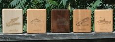 5 of the Different Fish Artwork You Can Choose From for the Back of Stonefly Studio's River Map Fly Boxes.  The original artwork is by Dave Whitlock or Larry Copenhaver.